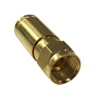 F-Kompressionsstecker High Quality Ø 8mm – 8.2mm Vollmetall