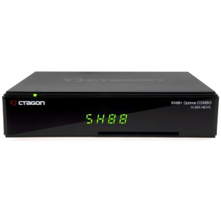 Octagon SX88+ Optima Combo HEVC Full HD Multistream DVB-S2/C/T2 Receiver